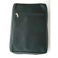 15) Komfort-Version B (Echt-Leder) - schwarz - für Format: 20,2 x 13,5 x 3 cm