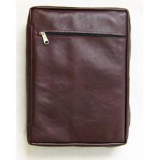 3) Komfort-Version B (Echt-Leder) - burgunder-rot - für Format: 24 x 16,8 x 4,8 cm - mit kleinem Fehler !